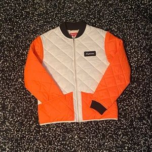 Supreme Colour Blocked Quilted Jacket